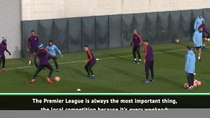 guardiola wont risk premier league title for the champions league