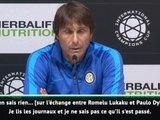 Inter - Conte ne se prononce pas sur l'échange entre Lukaku et Dybala