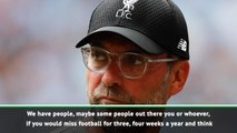 Who needs more interesting competitions? Klopp vents against non-stop football
