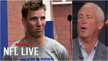 Eli Manning's future is 'dimmer' now that his wide receivers are hurt - John Fox - NFL Live