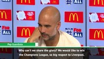 City deserve the same credit as Liverpool - Guardiola