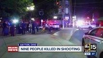 Nine killed in Dayton, Ohio shooting