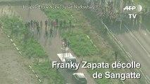 Images aériennes de la traversée de la Manche de Franky Zapata