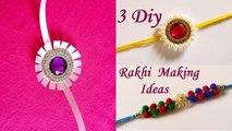3 DIY Rakhi Making Ideas At Home For Raksha Bandhan -- Handmade Rakhi - 1 -- Rakhi Designs