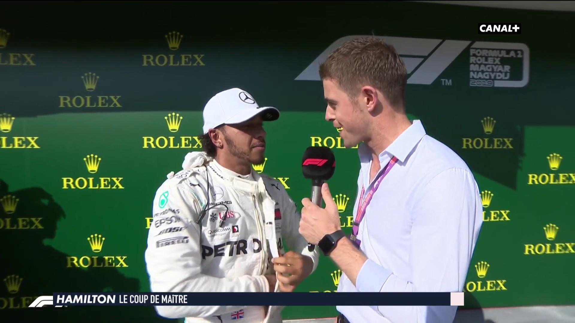 La réaction de Lewis Hamilton