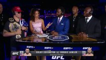 Colby Covington, Kamaru Usman get heated during UFC Fight Night Post Show _ ESPN MMA