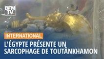 L'Égypte présente le sarcopghage du pharaon Toutânkhamon