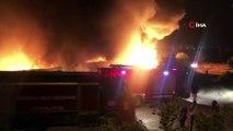Denizli'de kimyasal fabrikasında büyük yangın