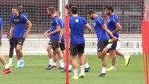 Ultimo entrenamiento del Athletic antes de jugar este miércoles ante la Roma