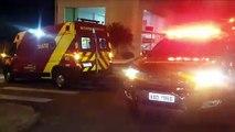 Mulher fica ferida em acidente entre carros na Rua São Paulo