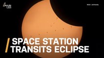 See the Moment the Space Station Photobombs a Solar Eclipse