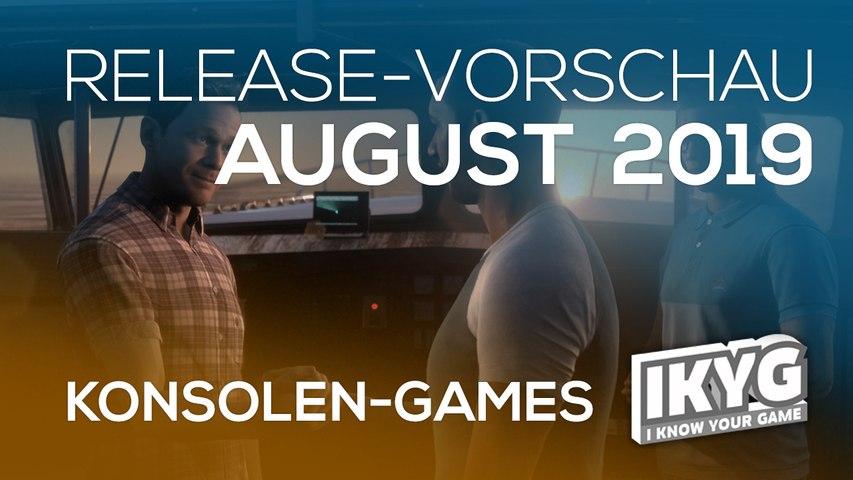 Games-Release-Vorschau - August 2019 - Konsole