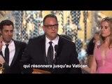 Aux Oscars, le message du réalisateur de Spotlight au pape