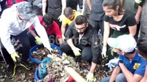 Bollywood Actor Arjun Kapoor Support Carter Road Beach Clean Up Drive