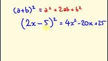 Algebra - Completing the Square - Solving Quadratic Equations