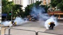 Hong Kong- heurts entre la police et les manifestants pro-démocratie - AFP Images-FLUVORE