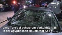 Viele Tote bei schwerem Verkehrsunfall in Kairo