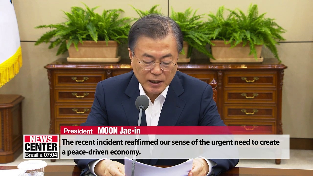 Moon says through 'peace economy' Korea can overtake Japan's economy