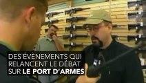 En plein match, il supplie le congrès d'interdir le port d'armes !