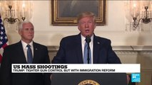 US President Donald Trump holds press conference after mass shootings in Ohio, Texas