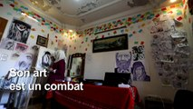 Une artiste syrienne peint la violence à Idleb