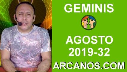 HOROSCOPO GEMINIS - Semana 2019-32 Del 4 al 10 de agosto de 2019 - ARCANOS.COM