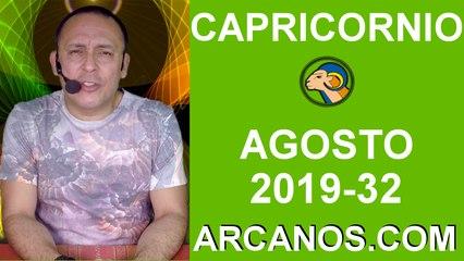 HOROSCOPO CAPRICORNIO - Semana 2019-32 Del 4 al 10 de agosto de 2019 - ARCANOS.COM