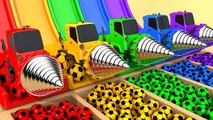 Learn Colors With Soccer Ball Drill Street Vehicle for kids Nursery Rhymes
