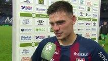 Réaction de Jessy Deminguet après SMCaen / FC Lorient
