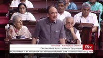 Ghulam Nabi Azad's Remarks - The Jammu and Kashmir Reorganisation Bill, 2019
