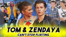 TOM HOLLAND AND ZENDAYA CANT STOP FLIRTING WITH EACH OTHER - Spider-Man: Far From Home Teaser
