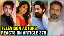 Television Actors Reacts On Article 370 & Pray For Peace In KASHMIR