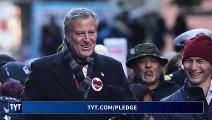Bill de Blasio Signs Progressive Pledge