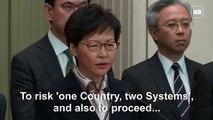 Hong Kong leader Lam says protesters trying to 'destroy' Hong Kong