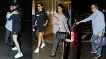 Deepika Padukone spotted with Ranveer Singh's parents at Mumbai airport | FilmiBeat