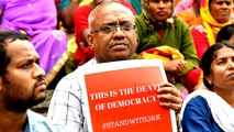 India's opposition accuses BJP government of 'murdering' democracy