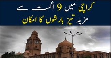 Monsoon's second spell to start soon in Karachi