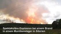 Gewaltige Explosion in russischem Munitionslager