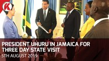 UHURU IN JAMAICA FOR THREE DAY STATE VISIT
