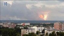 Una brutal explosión de un arsenal en Rusia causa 12 heridos y 16.000 evacuados