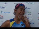 Claire Adorna breaks down in tears after winning the first SEA Games gold for the Philippines