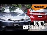 Coffee crawl with the Toyota Corolla Altis