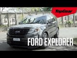 The Ford Explorer is a big, comfortable American machine