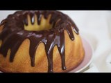 Vanilla Bundt Cake with Dark Chocolate Glaze Recipe | Yummy PH