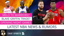 Carmelo Anthony Return To NBA? Blake Griffin Trade Rumors, NBA Schedule - Draymond Green Contract