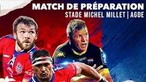 A l'équipe de l'ASBH affrontait les joueurs de l'USC XV sur le terrain du Stade Millet à Agde pour un match amical