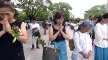 74 ans après, Hiroshima se tait en hommage à ses victimes