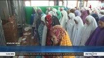 Ribuan Santri di Jombang Gelar Salat Ghaib untuk Mbah Moen