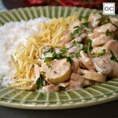 Estrogonofe vegetariano   Receitas Guia da Cozinha