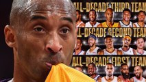 Kobe Bryant Fans SNAP After He Was Named To NBA ALL Decade THIRD Team Below Carmelo Anthony!